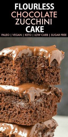 Flourless Paleo Vegan Chocolate Zucchini Cake (Keto, Low Carb, Sugar Free)- An easy recipe for a moist healthy chocolate zucchini cake made in one bowl and topped with a delicious healthy frosting! #ketodessert #ketorecipes #paleovegan #chocolatezucchini #zucchinicake #flourless | Recipe on thebigmansworld.com
