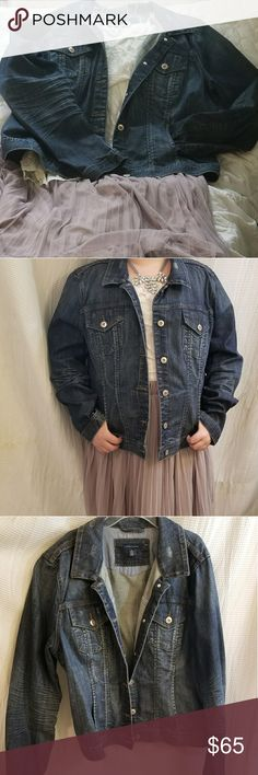 Tommy Hilfiger distressed Jean jacket. Never worn. NWOT. Distressed Jean jacket.  So cute for this spring. This is a XXL. Please note, Model is not a XXL and is large on her. Model is a L and only 5 foot tall. Jacket fits at waist. Any holes in jacket are by manufactures design. I bought the jacket online and was too small. Tommy Hilfiger Jackets & Coats Jean Jackets