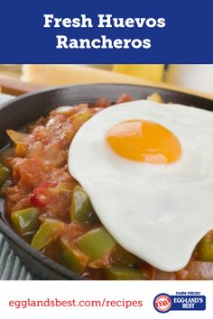A spicy and delicious way to start (or end) your day! #Egglandsbest #Breakfast #Recipe #Vegetarian