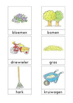 Woordkaarten Bas 'De tuin' 1