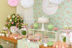 CHA DE BEBE URSA PROVENCAL, CHA de bebe menina , mesa doces ha de bebe , cha de bebe ursinhas , cha de bebe pequenos luxos, mesa decorada cha de bebe