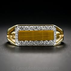 Cartier Tiger's Eye and Diamond Ring