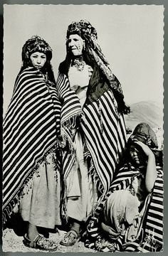 Postcard of three women from Morocco, 1959.