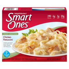 Weight Watchers Smart Ones Chicken Fettuccini White Sauce Pasta, White Pasta, Microwave Dinners, Microwave Recipes, Weight Watchers Smart Ones, Chicken Fettuccine, Parmesan Sauce, Frozen Chicken, Meat Chickens