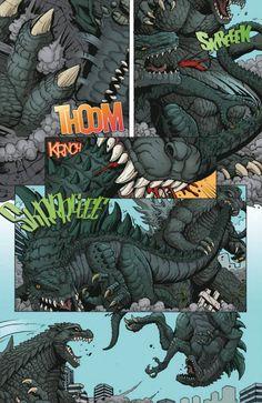 Godzilla: Rulers of Earth Comic Preview - Godzilla 2014 Gallery