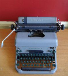 Vintage 1940s Remington Typewriter Model 241024 by retrowarehouse