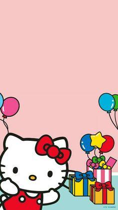 Hello Kitty Hello Kitty Birthday Theme, Hello Kitty Birthday Invitations, Toy Story Birthday, Toy Story Party, Hello Kitty Backgrounds, Hello Kitty Wallpaper, Kawaii Wallpaper, Hello Kitty Themes, Hello Kitty Pictures
