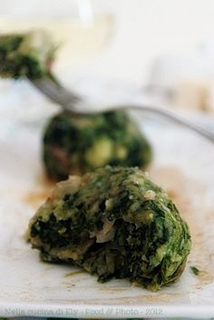 Dumplings with spinach and gorgonzola