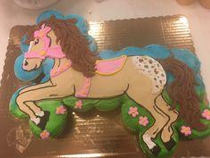 Lego Birthday, Third Birthday, Birthday Ideas, Pull Apart Cupcake Cake, Cupcake Cakes, Horse Cupcake, Lego Cake, Pony Party, Bakery Cakes