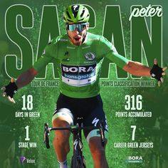 makes it a record green jerseys at the Tour de France 🏆 . Olympic Sports, Pro Cycling, Bicycle, Tours, Superhero, Green, Twitter, People, Instagram