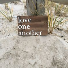 Reclaimed Wood Sign, Wall Art, Handmade, Quote Love one Another, Wedding, Birthday, Gift, Christmas by MomsGoneMad on Etsy