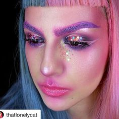 Mermaid makeup all day every day ✨ @thatlonelycat wearing Multitasker Pencil in 'Seductive Damson'. . . #instamakeup #makeupgoals #satcolcosmetics #mermaid #mermaidmakeup #colour #art #creative #makeupjunkies #love #bbloggers