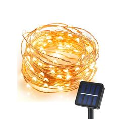 Aoxsen Waterproof Solar String Lights, 33 Feet 100LED Fairy LED Rope String Lights Starry Ambiance Outdoor Lighting Copper for Christmas, Home, Lawn, Garden, Patio, Party (Solar Powered, Warm White) ** Special  product just for you. See it now! : home diy garden