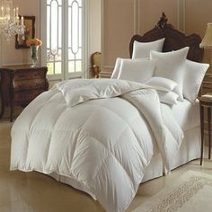 Himalaya All Year Comforter-Polish White Goose Down by Down Comforters. $630.00. The ultimate in luxury. A spectacular sateen 354 thread count tick makes this comforter both elegant and light. The high thread count combined with the special SanProCare finish permits moisture evaporation. Making this a wonderful choice for all year comfort. The large baffled boxes allow for maximum down lofting. This is the comforter to complement the finest linens. Filled with either 700+ Pol...