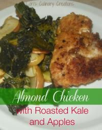 Almond Chicken with Roasted Kale and Apple