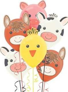 Mayflower Products 3rd Birthday Farm Tractor Balloon Bouquet Decorations and Party Supplies