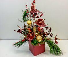 ...wenn das Temperament explodiert   #Gesteck #Anthurien #Geschenk #haltbar #Floristik  EBK-Blumenmönche Blumenhaus – Google+