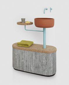Sashi Tile Bathroom Furnishings by Rui Pereira & Ryosuke Fukusada