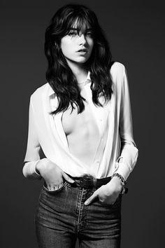 Grace Hartzel for Saint Laurent - Pre Fall 2014 Collection  Photographed by: Heidi Slimane