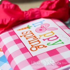 happy easter and happy spring candy bar wrappers.  perfect for those little easter baskets!
