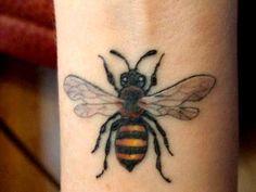 Beautiful Bee Tattoo
