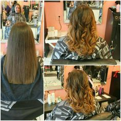 We did a beautiful #natural looking #balayage on this client who had #virginhair -Victoria #bboutiquesalon #lanzacolor