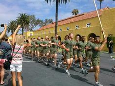 Moto Run on Family Day. MCRD San Diego.