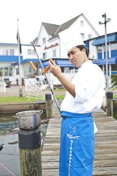 Fangfrischer Fisch - im AKZENT Hotel Strandhalle in Schleswig. Halle, Hotels, Strand, Hall