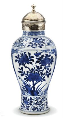 A SILVER-MOUNTED BLUE-AND-WHITE BALUSTER VASE   CHINA FOR THE ISLAMIC MARKET, KANGXI PERIOD, EARLY 18TH CENTURY