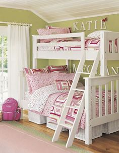 Want Bunk Beds for Bellas room.any suggestions on where to look? (If I ever did bunk beds. Girls Bunk Beds, Twin Bunk Beds, Girls Bedroom, Bedroom Decor, Bedroom Ideas, Bedroom Designs, Wall Decor, My New Room, My Room