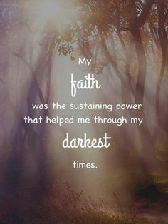 Doubt your doubts before you doubt your FAITH!
