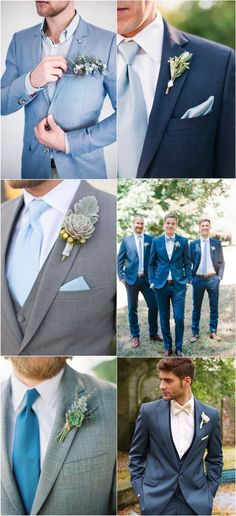 dusty blue wedding suits ideas for groomsmen