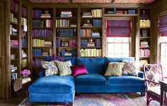 House Beautiful online is your interior design and decoration destination. Browse galleries of gorgeous interiors, and let our experts show you how to makeover every room in your house. Home Library Design, House Design, Dream Library, Library Wall, Library Ideas, Library Books, Read Books, Elle Decor, Sectional Sofa Decor