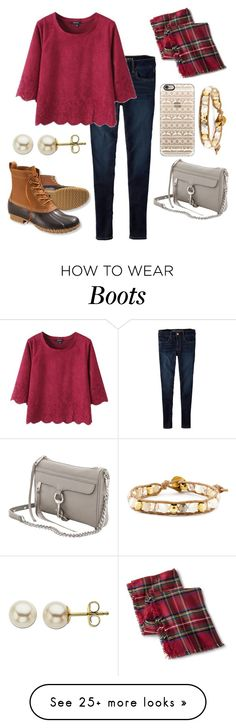 """bean boots & rebecca minkoff"" by ansleighrose023 on Polyvore featuring American Eagle Outfitters, Merona, L.L.Bean, Casetify, Chan Luu, Rebecca Minkoff and Lord & Taylor"