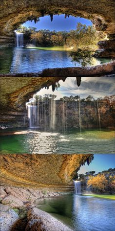 The lagoon - HAMILTON POOL, TX about 167 km / 1h 50 m from Schulenburg, NW from Austin - to visit, reservation per car is required !! (9AM-1PM or 2PM-6PM slots)