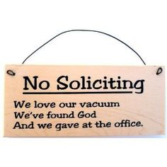 no soliciting--gave at the office