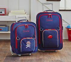 Fairfax Navy Luggage #pbkids