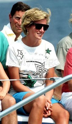 Princess Diana,Prince Charles and the family on holiday