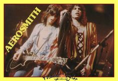 JOE PERRY AND STEVEN TYLER BACK IN THE 70'S ... ;)