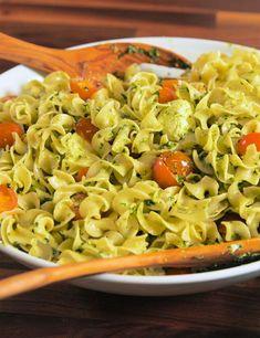 Pesto Caprese Noodle SaladDelish