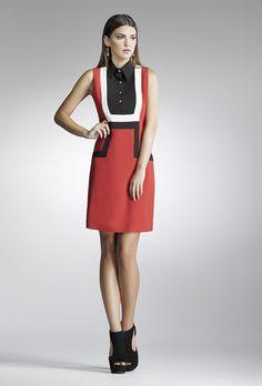 red black white dress elegant dress 45 euros www.chrisper.gr