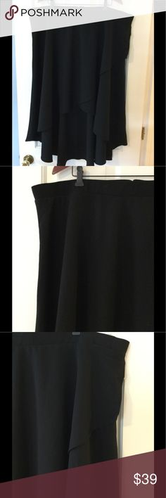 """🆕➕ torrid Crepe Hi Lo Faux Wrap Midi Skirt Faux wrap skirt has back zip close. Polyester. Lined. Machine wash.  Waist across 23.5"""". Length 36"""".  Brand new with tag.  Smoke free and pet free. torrid Skirts Midi"""