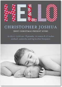 love this birth announcement shot of siblings