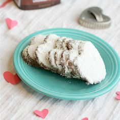 These festive heart cookies are made with almond meal and cocoa powder, and full of flavor! Gluten free and vegan.
