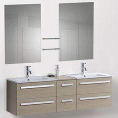 Found it at Wayfair - Modern Bathroom Vanity Set with Mirrors Ikea Bathroom Vanity, Rustic Bathroom Vanities, Bathroom Vanity Lighting, Modern Bathroom, Madrid, Vanity Set With Mirror, Amazing Bathrooms, Malaga, Double Sinks
