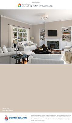 I found this color with ColorSnap® Visualizer for iPhone by Sherwin-Williams: Touch of Sand (SW 9085).