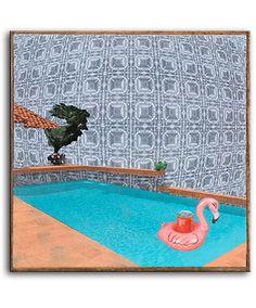 Pool Party by Kieran Collins Acrylic, black toner, & oil on panel