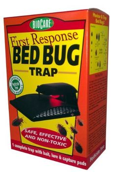 BioCare Bed Bug Trap, Reusable by Springstar. $29.40. Plastic trap with light plugs into a standard outlet. Permanent bed bug trapping device comes with intitial lures that are good for 10 days. Powerful attractant combination of heat, co² and pheromones draws bed bugs to the trap. The First Response Bed Bug Trap is designed as a permanent reusable monitoring device. It has a unique combination of heat, CO² and pheromones to attract and capture all stages of bed b...