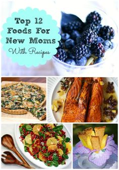 Healthy & Easy Recipes for New Moms - good way for G'ma to take care of new mommy.