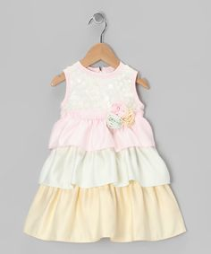 A-dor-a-ble!  Take a look at this Yellow & Pink Brooke Dress - Infant & Toddler by Dorissa on #zulily today!